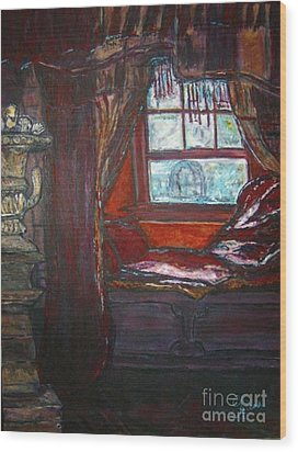 Wilhelmina's Windowseat Wood Print