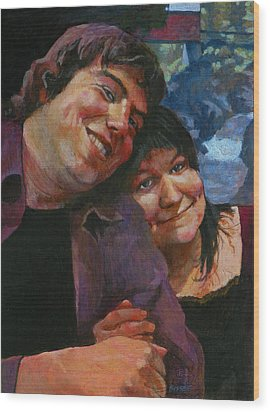 Will And Britta Wood Print by Robert Bissett