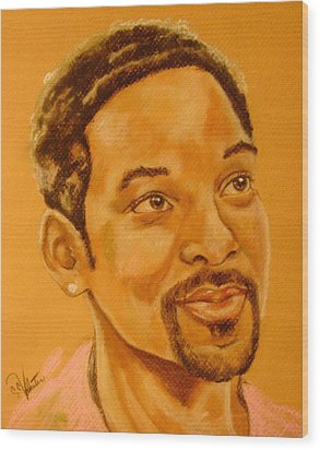 Will Smith Wood Print by Sandra Valentini