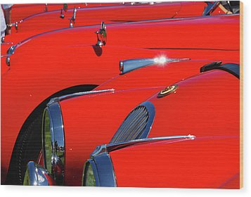 Wood Print featuring the photograph Will The Owner Of The Red Car by John Schneider