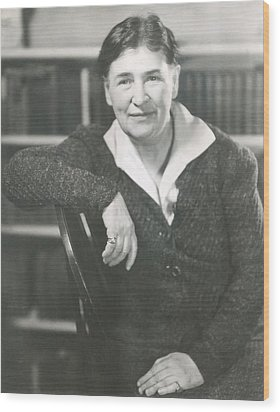 Willa Cather At The Time She Wrote Lucy Wood Print by Everett