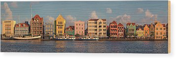Willemstad Curacao Panoramic Wood Print by Adam Romanowicz
