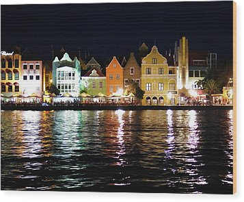 Wood Print featuring the photograph Willemstad, Island Of Curacoa by Kurt Van Wagner