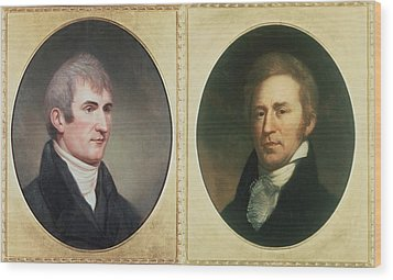 William Clark 1770-1838 And Meriwether Wood Print by Everett