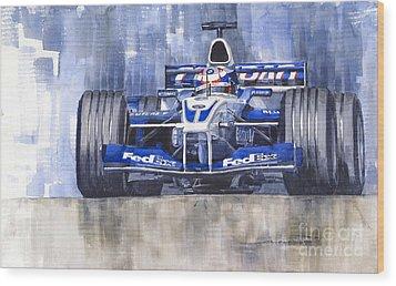 Williams Bmw Fw24 2002 Juan Pablo Montoya Wood Print by Yuriy  Shevchuk