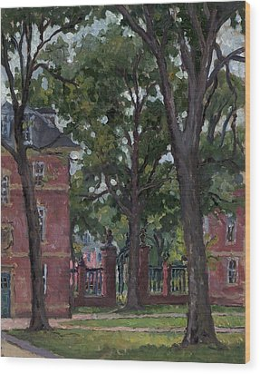 Williams College Frosh Quad Wood Print by Thor Wickstrom