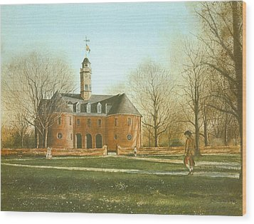 Williamsburg Capital Wood Print by Charles Roy Smith