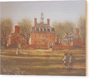 Williamsburg Governors Palace Wood Print by Charles Roy Smith