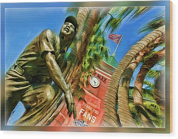Willie Mays  Wood Print by Blake Richards