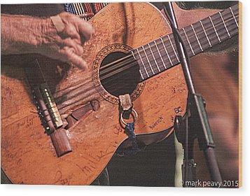 Willie's Guitar Wood Print