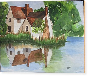 Willy Lotts Cottage Wood Print