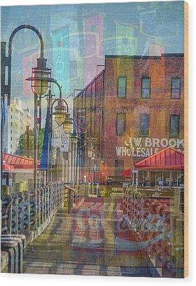 Wilmington North Carolina Riverfront Wood Print