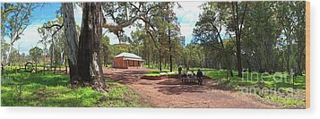 Wood Print featuring the photograph Wilpena Pound Homestead by Bill Robinson
