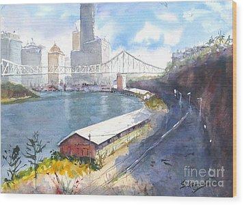 Wilson's Lookout Brisbane Wood Print