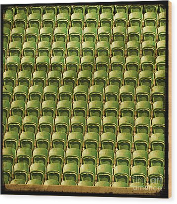Wimbledon Seats Wood Print by Sonia Stewart