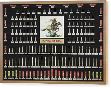 Winchester Ammunition Cartridge Board Wood Print by Unknown