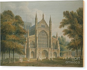 Winchester Cathedral Wood Print by John Buckler