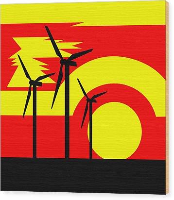 Wind And Sun Wood Print by Asbjorn Lonvig