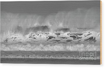 Wood Print featuring the photograph Wind Blown Waves by Nicholas Burningham