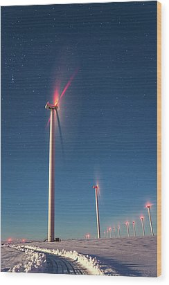 Wood Print featuring the photograph Wind Power by Cat Connor