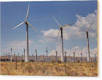 Wind Power II Wood Print by Ricky Barnard