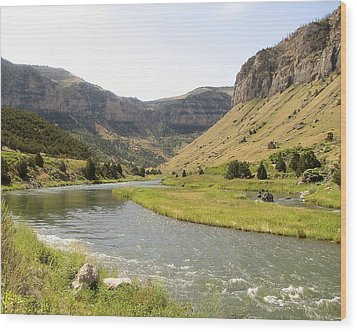 Wind River Canyon 1 Wood Print