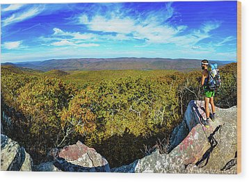Wind Rock Panorama Wood Print