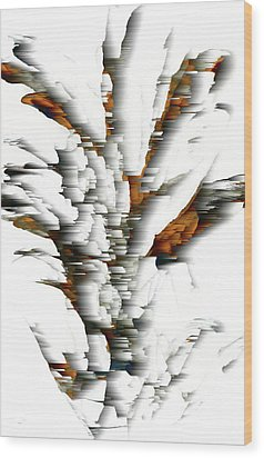 Wood Print featuring the painting Wind Series 05.072311windblastscvss by Kris Haas