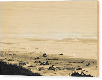 Wood Print featuring the photograph Wind Storm On The Beach by Craig Perry-Ollila