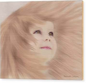 Windblown Child's Play Wood Print
