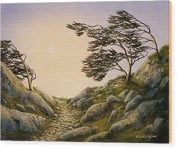 Windblown Warriors Wood Print by Frank Wilson