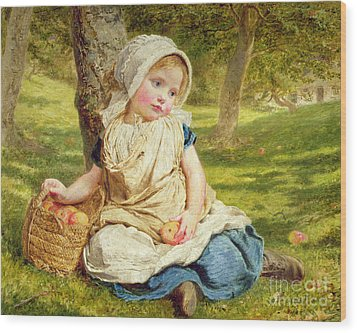 Windfalls Wood Print by Sophie Anderson