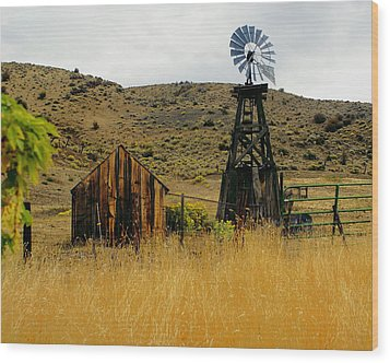 Windmill 2 Wood Print by Marty Koch