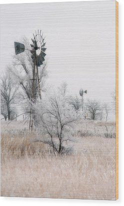 Windmill Antithesis Wood Print