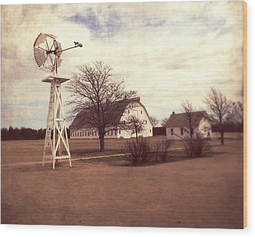 Wood Print featuring the photograph Windmill At Cooper Barn by Julie Hamilton