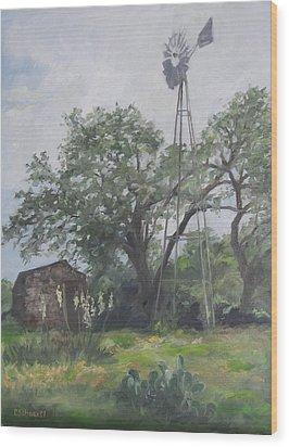 Windmill At Genhaven Wood Print