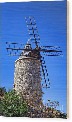 Wood Print featuring the photograph Windmill In Provence by Olivier Le Queinec