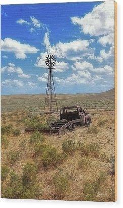 Windmill Over Lenzen Wood Print