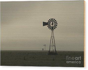 Windmill Perspective Wood Print