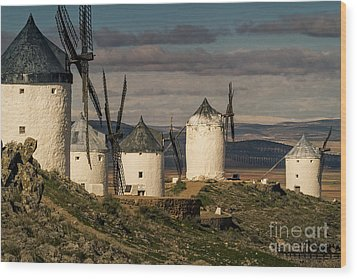 Wood Print featuring the photograph Windmills Of La Mancha by Heiko Koehrer-Wagner