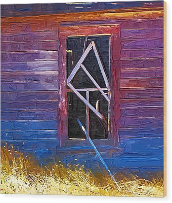 Wood Print featuring the photograph Window-1 by Susan Kinney