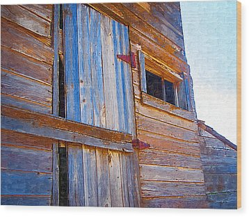 Wood Print featuring the photograph Window 3 by Susan Kinney
