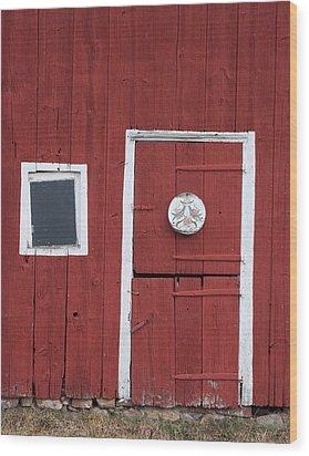 Window And Door Wood Print by Robert Sander