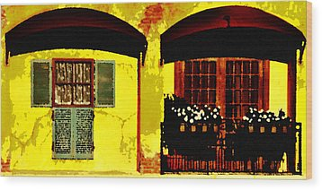 Window And Doors Wood Print by Lyle  Huisken