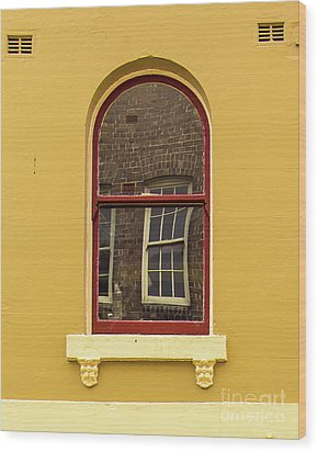 Wood Print featuring the photograph Window And Window 2 by Perry Webster