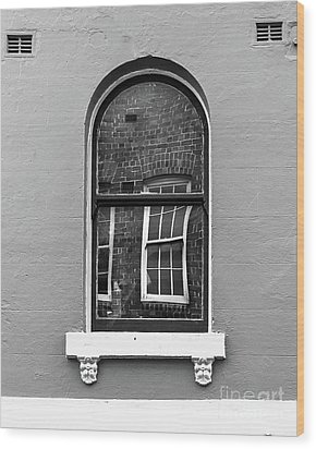 Wood Print featuring the photograph Window And Window by Perry Webster