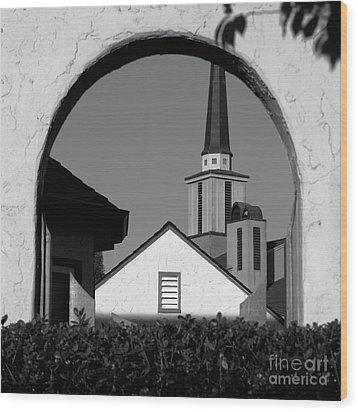 Window Arch Wood Print by CML Brown