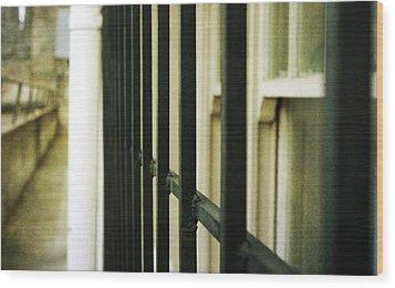 Window Bars Wood Print by Cathie Tyler