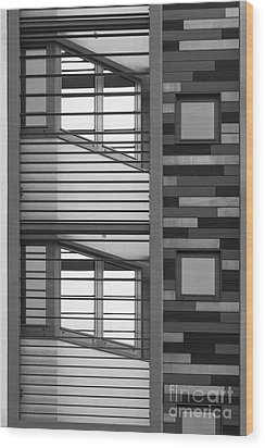 Vertical Horizontal Abstract Wood Print by Wendy Wilton