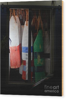 Window Buoys Key West Wood Print